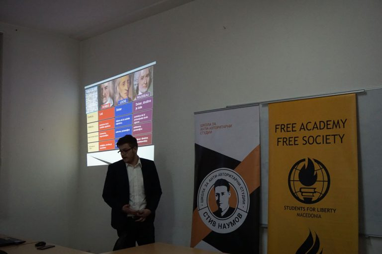 Александар Кокотовиќ на темата: Либертаријанизам – од индивидуална слобода до слободно и просперитетно општество