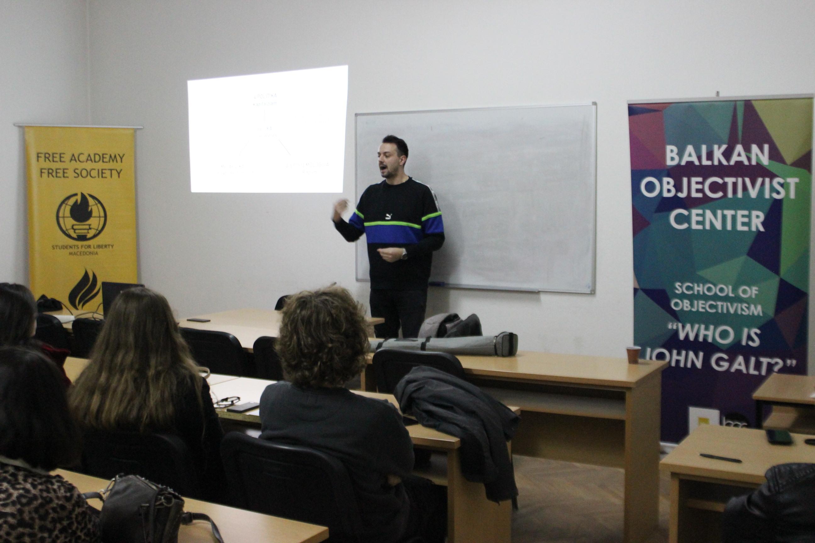 Предавање на Немања Радојевиќ на Школата Џон Галт во Битола