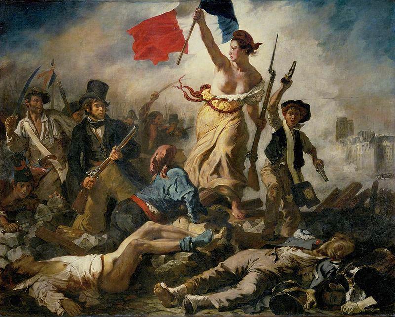 Ежен Виктор Делакроа - La Liberté guidant le peuple, 1830.